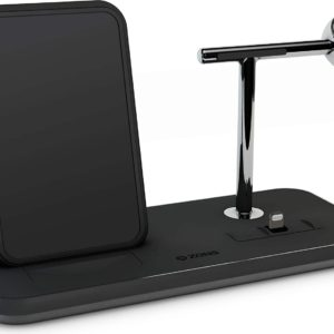 ZENS Qi & MFi certificato Stand+Dock+Watch Aluminium Wireless Charge